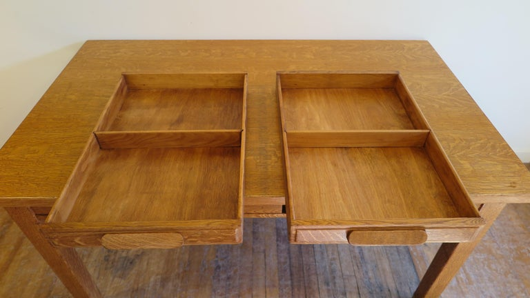 American Oak Library Desk For Sale 1