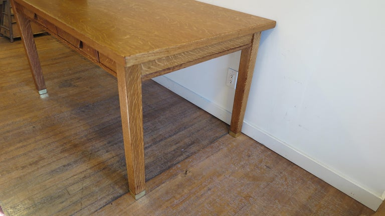 American Oak Library Desk For Sale 3