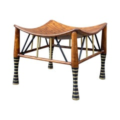 American Oak Thebes Stool