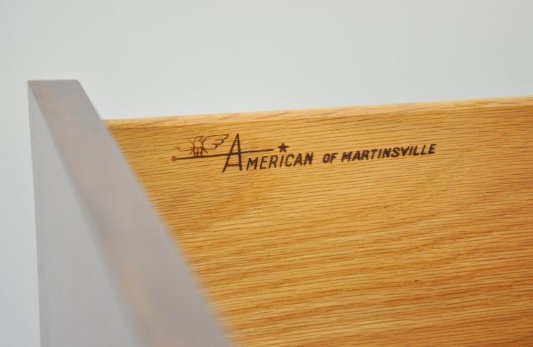 American of Martinsville Accord Walnut Triple Dresser For Sale 6