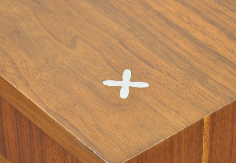 American of Martinsville Accord Walnut Triple Dresser For Sale 1