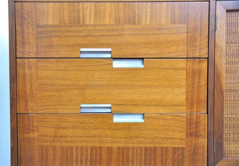 American of Martinsville Accord Walnut Triple Dresser For Sale 3