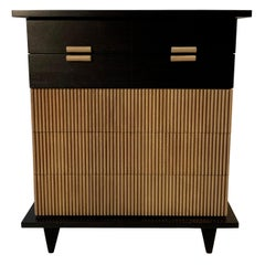 American of Martinsville Faux Bamboo Highboy Dresser