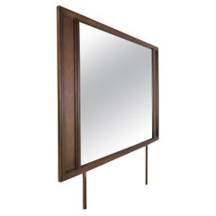 American of Martinsville Mid Century Harlequin Walnut Mirror