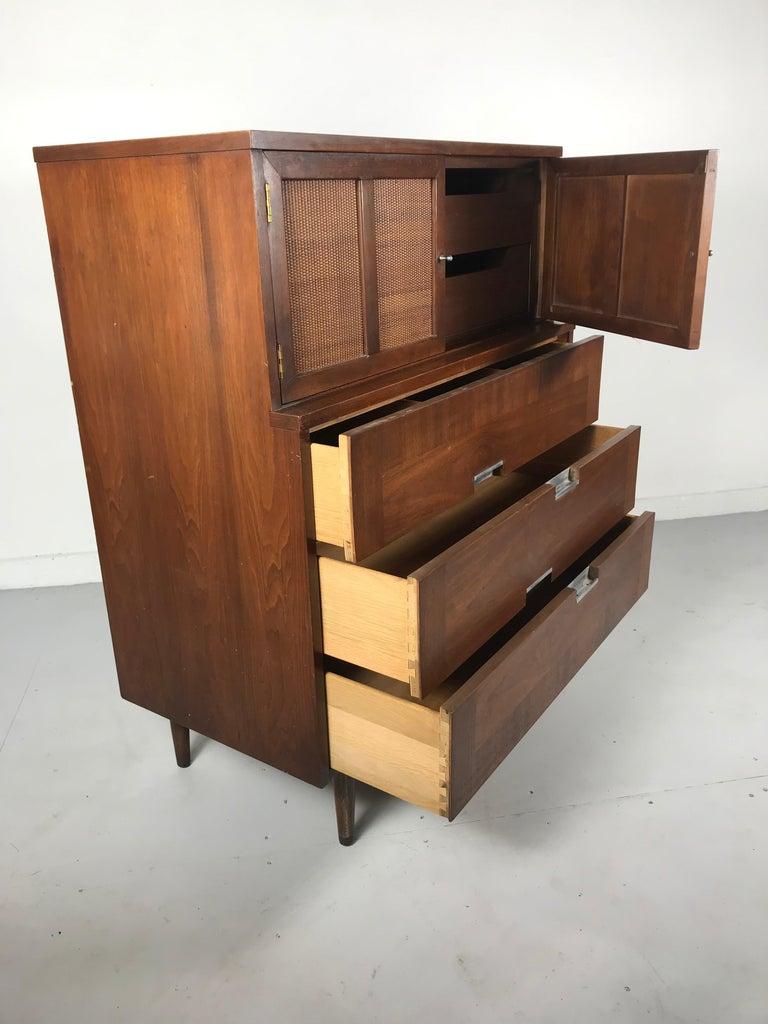 20th Century American of Martinsville, Mid-Century Modern Walnut Dresser, Accord Collection