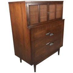 American of Martinsville, Mid-Century Modern Walnut Dresser, Accord Collection