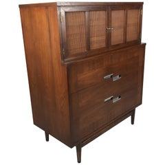 American of Martinsville, Mid-Century Modern Walnut Dresser, Accord Collection