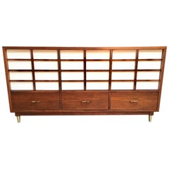 American of Martinsville Midcentury Walnut Nine-Drawer Dresser