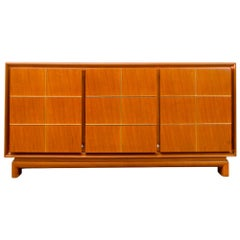American of Martinsville Modern Credenza with Brass Inlay, Circa 1960