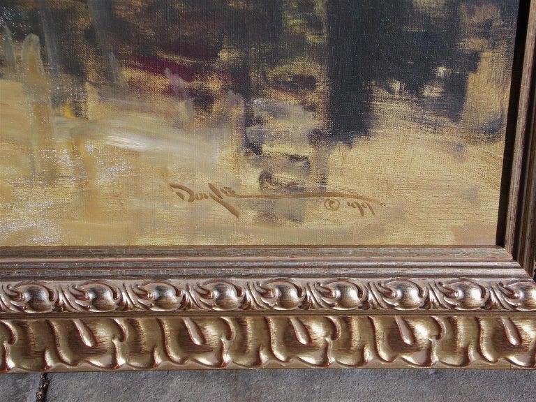 American Oil on Canvas Low Country Island in Original Gilt Frame, John C. Doyle In Excellent Condition For Sale In Charleston, SC