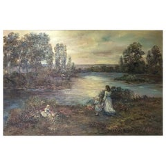 American Oil on Canvas Painting, Signed D Kent
