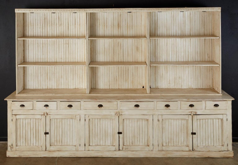Country American Painted Pine Kitchen Cabinet Cupboard or Bookcase