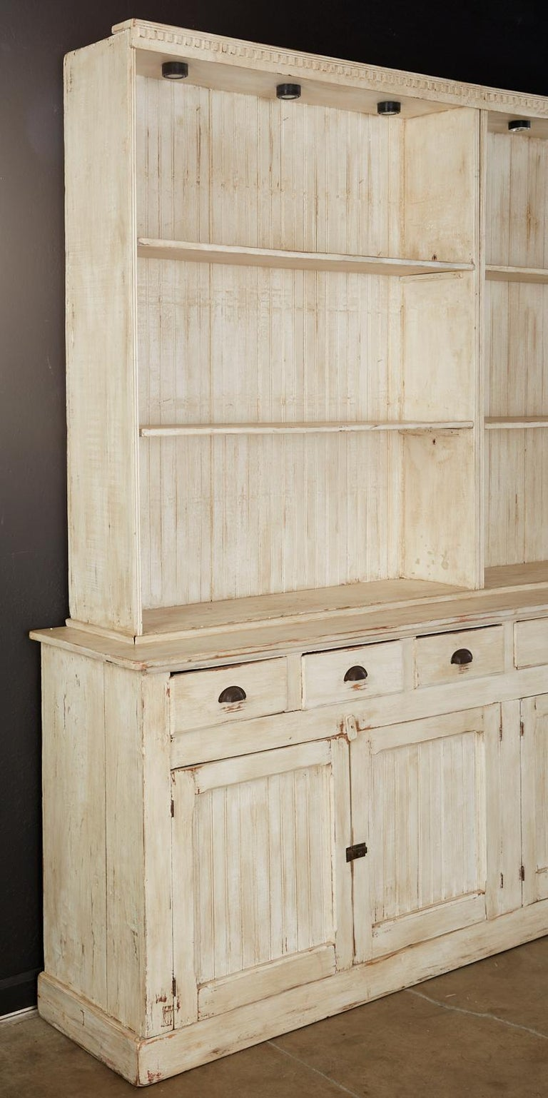 American Painted Pine Kitchen Cabinet Cupboard or Bookcase In Good Condition In Rio Vista, CA