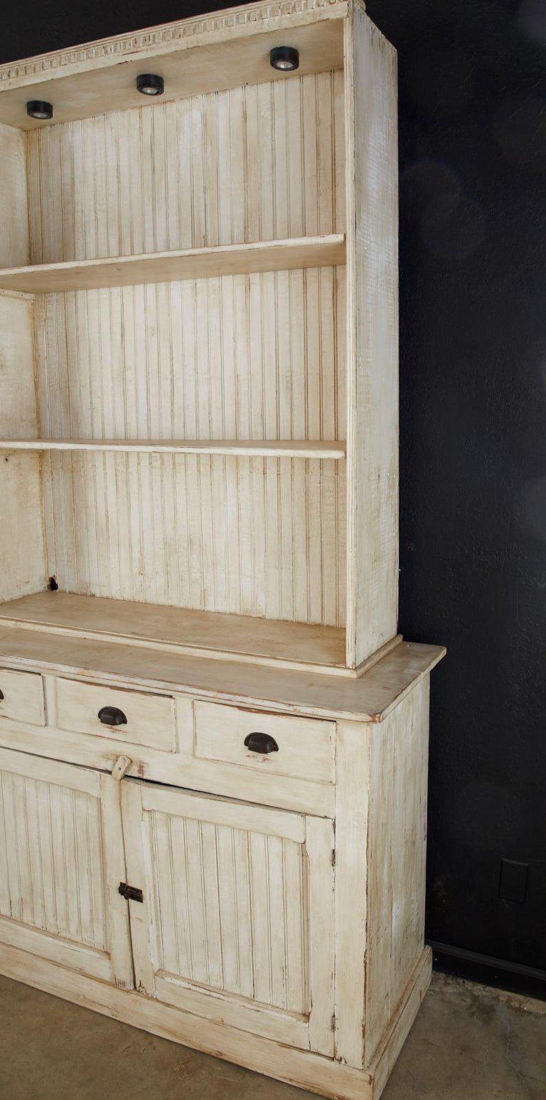 20th Century American Painted Pine Kitchen Cabinet Cupboard or Bookcase