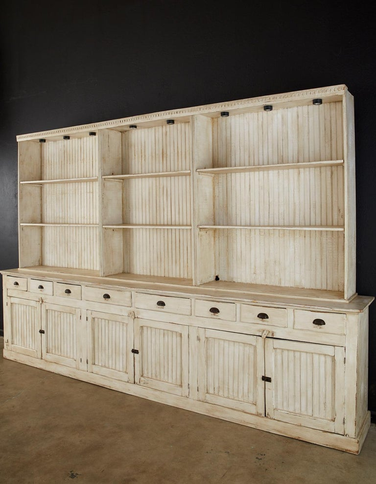 American Painted Pine Kitchen Cabinet Cupboard or Bookcase 1