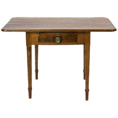 American Pine and Cherry One Drawer Table