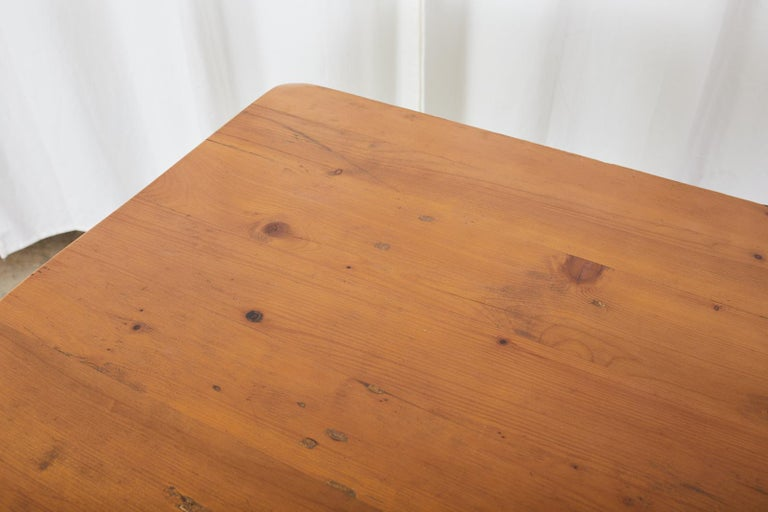 American Pine Country Farmhouse Style Dining Table For Sale 6