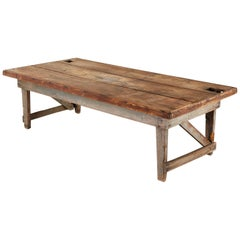 American Pine Primitive Work Table or Coffee Table
