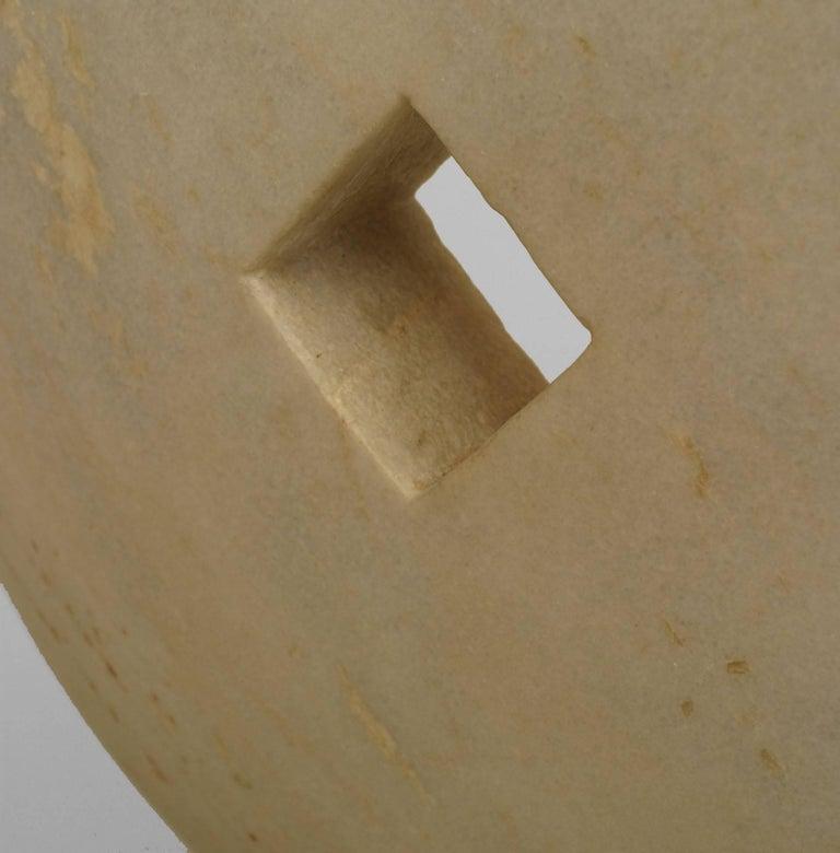 Post-Modern American Post-War Marble Disk Sculpture For Sale