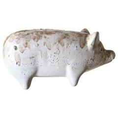 American Pottery Pig Bank, Circa 1880's