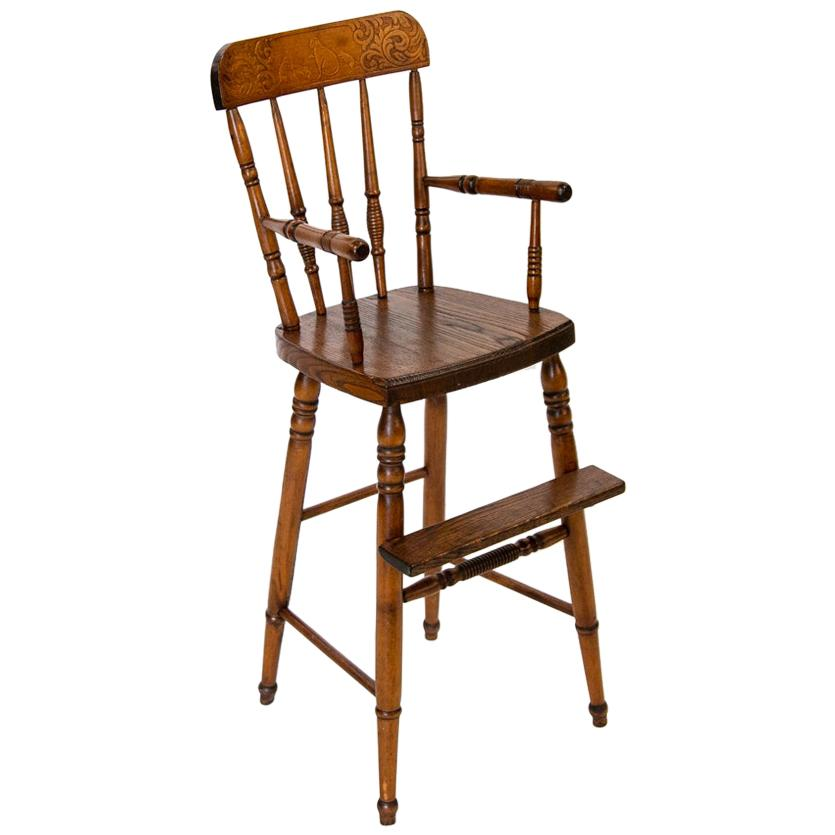 American Pressed Back High Chair
