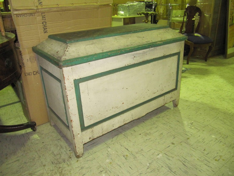 American Primitive Cabinet with Original Paint For Sale 3