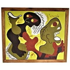 American Primitive Modernist Painting by Zoute, 1940