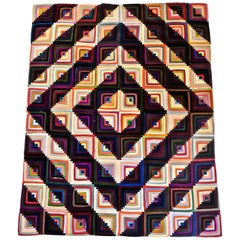 "American Quilt, ""Log Cabin"" Pattern, circa 1920s"
