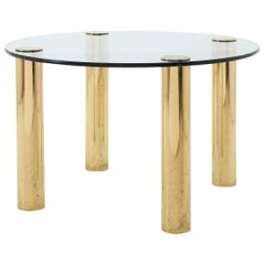 American Round Brass Dining Table