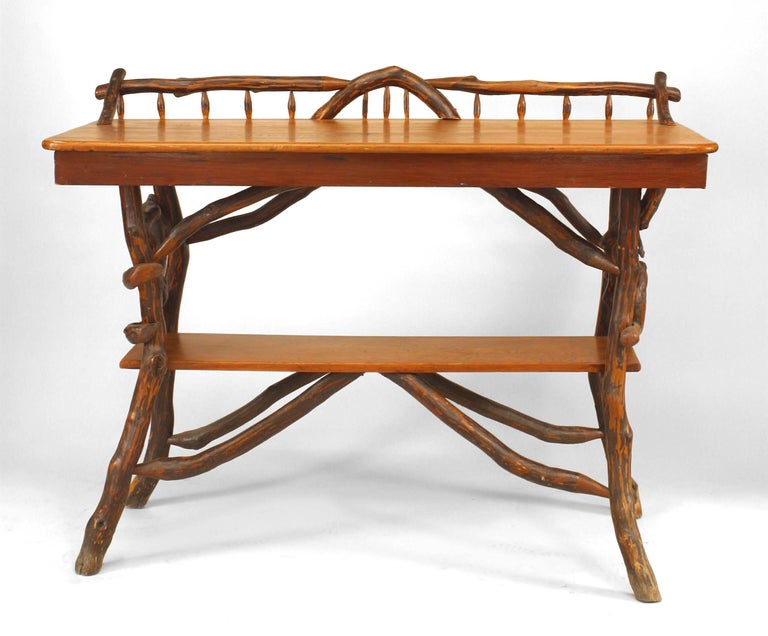 American Rustic Adirondack Serving Table In Good Condition For Sale In New York, NY