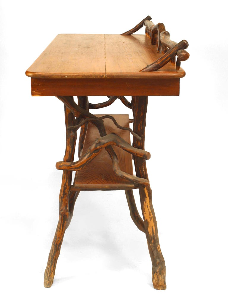 20th Century American Rustic Adirondack Serving Table For Sale