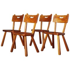 American Rustic Dining Chairs by Herman de Vries