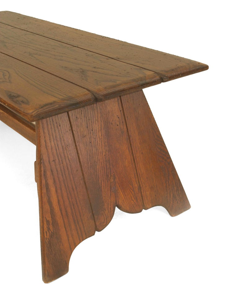 American Rustic Old Hickory Mission Style Coffee Table In Good Condition For Sale In New York, NY