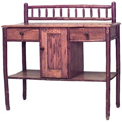 American Rustic Old Hickory Sideboard Cabinet