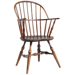 American 'Sack Back' Windsor Chair with Provenance, 18th Century, Connecticut