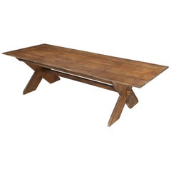 American Sawbuck Design Dining Table Made to Order