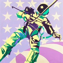 Space Walk    (Design, Contemporary, Pop Art, Astronaut, Conceptual, Moon Shot)