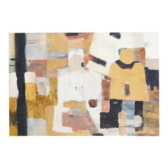 Waiting Figures Abstract Canvas Painting