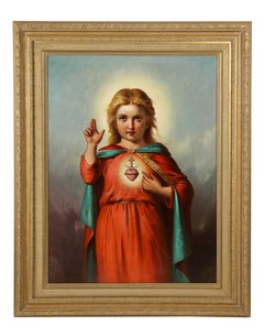 American School, (19th Century) Jesus Christ as A Baby Child, Oil Painting