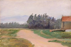 Early Impressionist oil of Berkeley, California