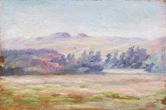 Early Impressionist oil of Berkeley Hills (California Landscape)