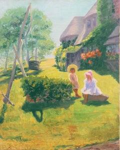 'Summer Days', Idyllic American Landscape, Children, Arts & Crafts Architecture