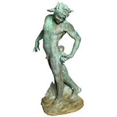 American Standing Garden Bronze Figure of Pan