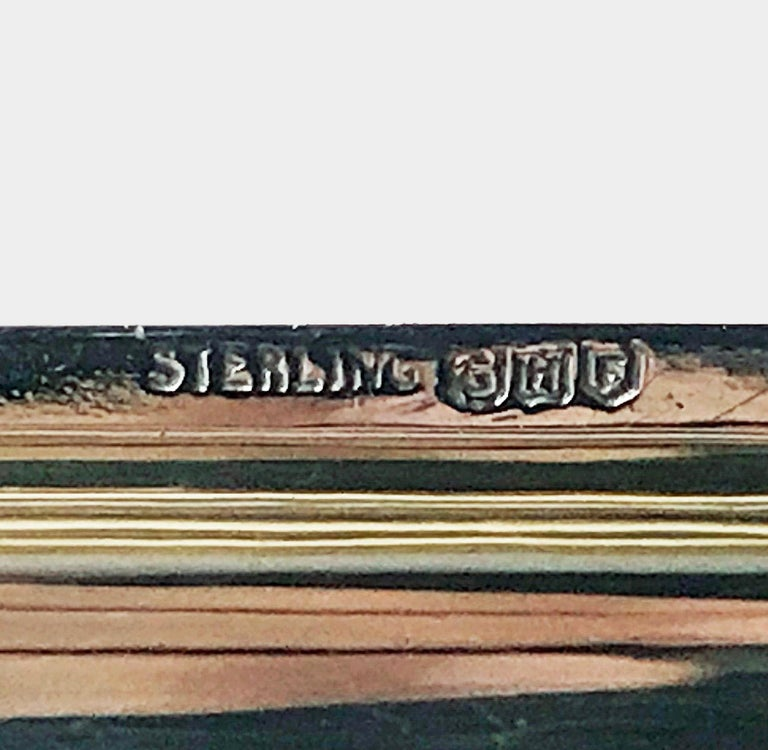 American Sterling Silver Cigar Case, G.H. French & Co, circa 1920 For Sale 1