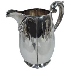 American Sterling Silver Modern Classical Water Pitcher