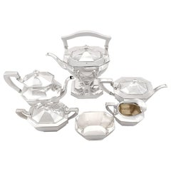 American Sterling Silver Six Piece Tea and Coffee Service Queen Anne Style