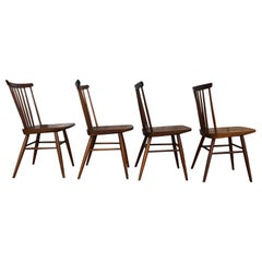 American Studio Craft Solid Walnut Dining Chairs Style of Nakashima