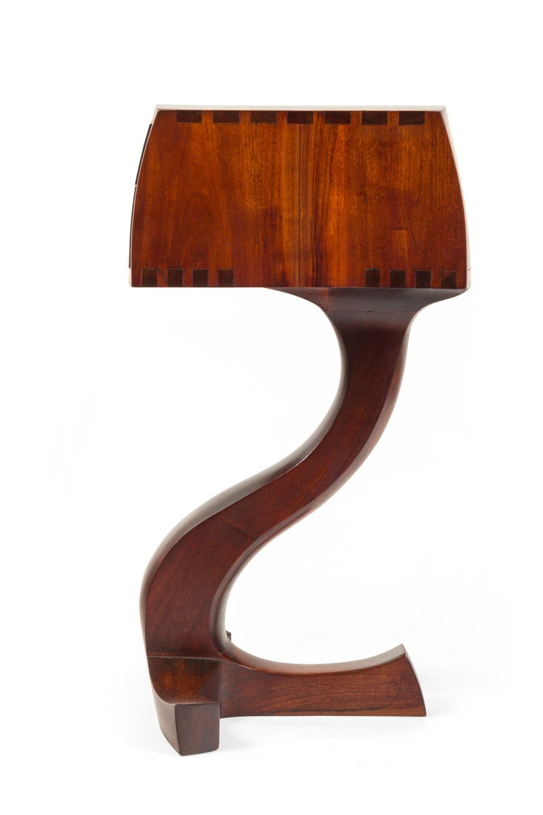 American Studio Crafts Movement Walnut Two-Drawer Stand, USA 1960s In Good Condition For Sale In New York, NY
