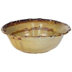 "American Studio Pottery Bowl, circa 1980, Signed ""Fisher"""