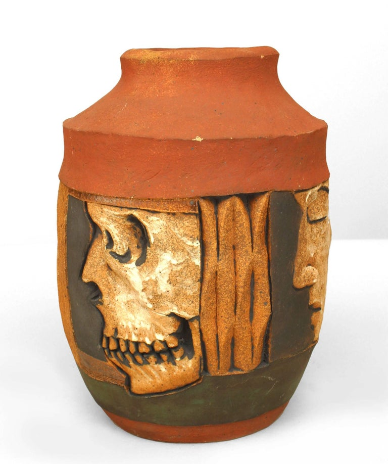American Terra Cotta Vase By Robert Bentley, 2005 For Sale